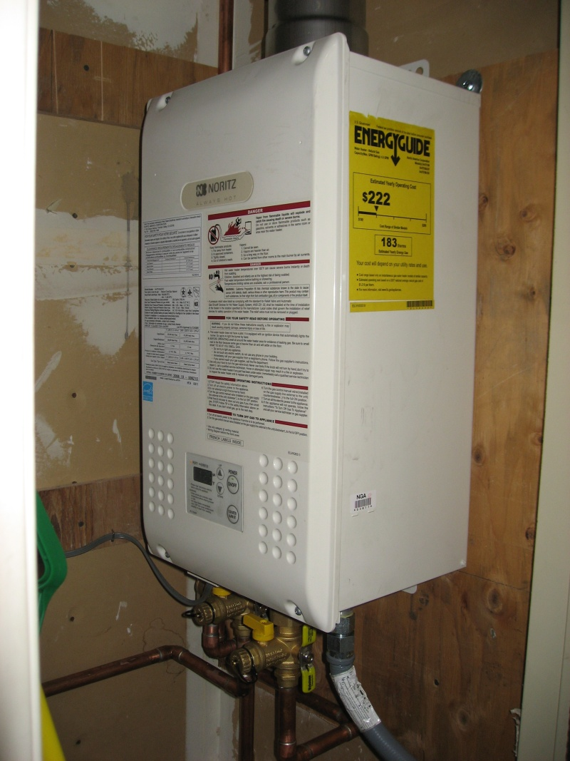 as part of our townhouse remodel we had a tankless hot water heater installed its predecessor was a gas hot water heater whose life expectancy was 15
