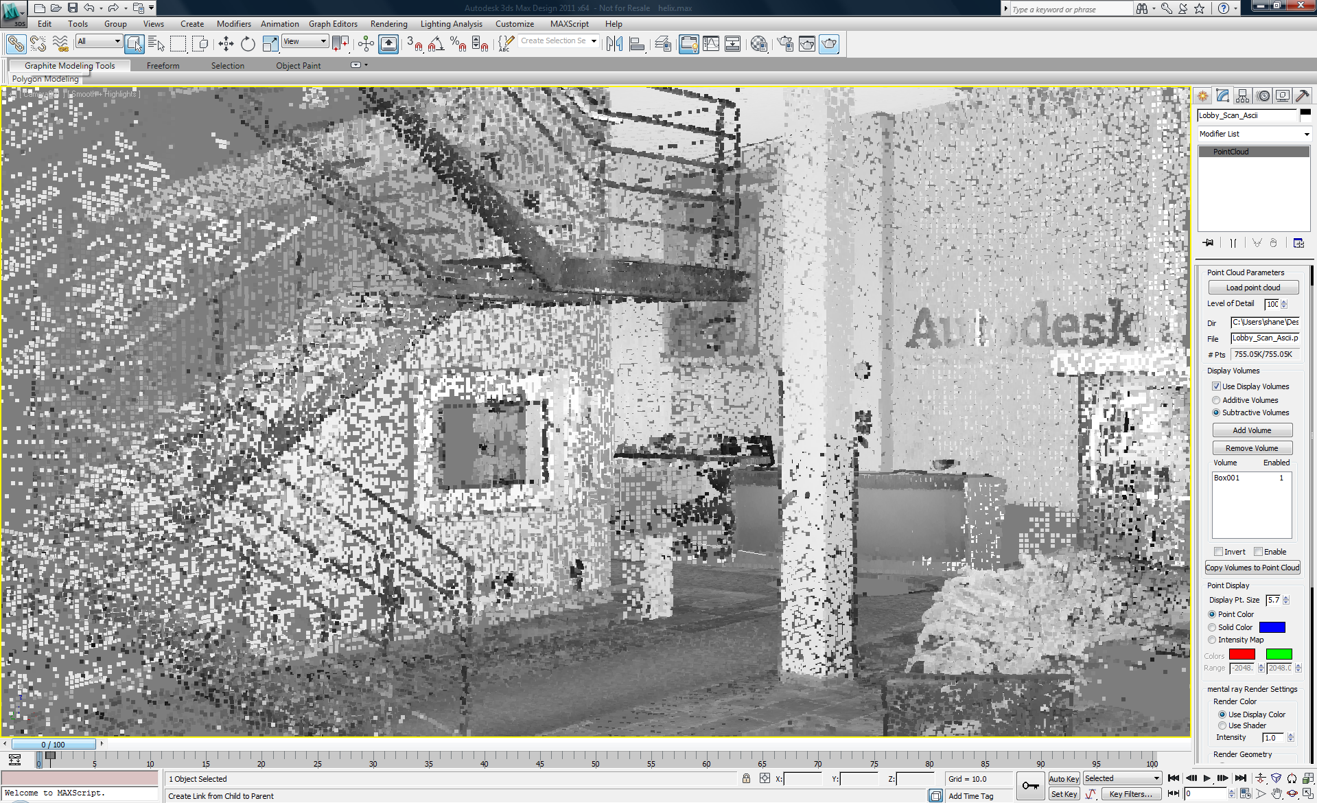 Point Cloud Tool for 3ds Max and 3ds Max Design Now