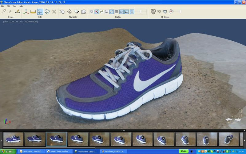NikeShoe_Phototextured model