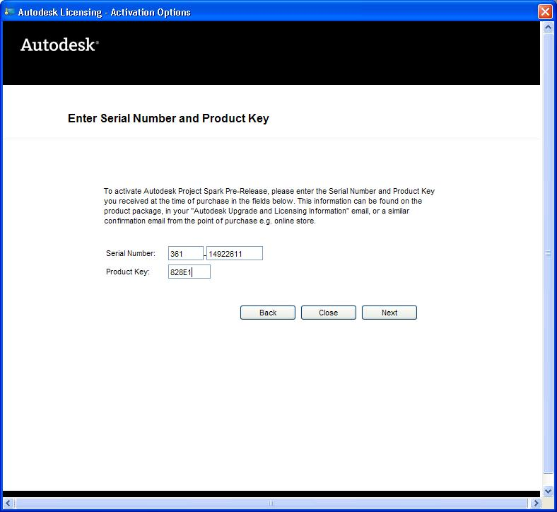 serial number and product key for 3ds max 2014