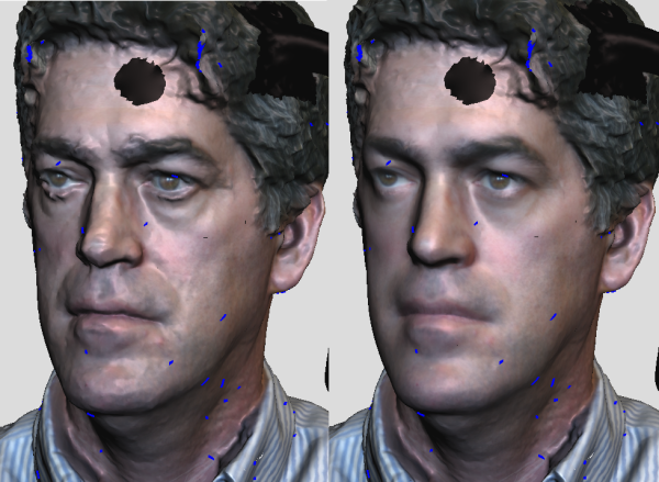 Seems To Have Made Him Younger But It Like This Smoothing Would Be Effective For Quickly Cleaning Up Face Scans Use In Other Things