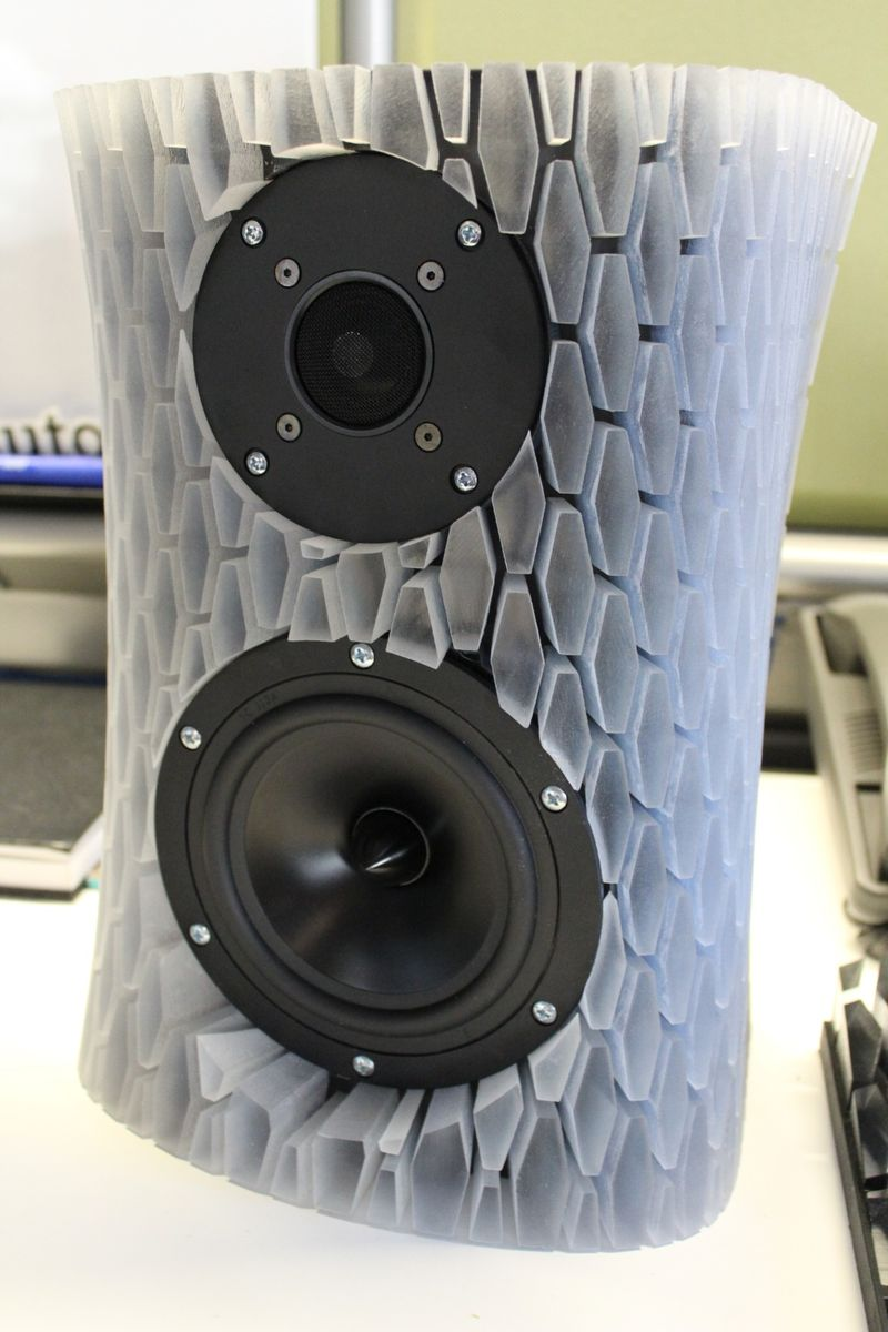 3d Printed Speaker Enclosure Made At The Office It Is