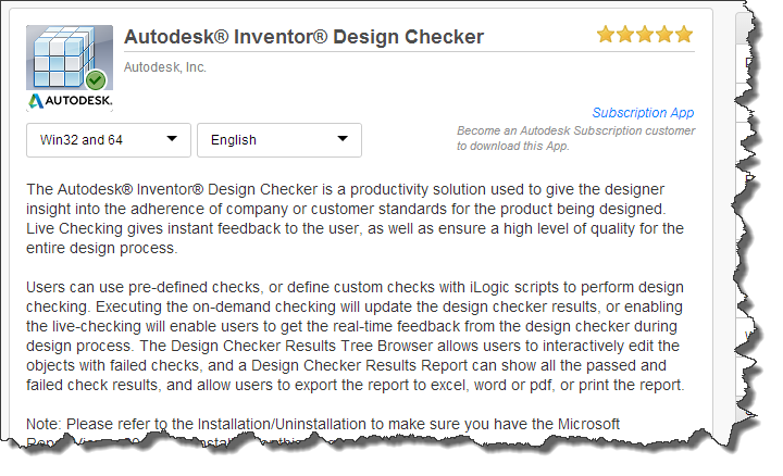 Design Checker for Inventor Graduates from Autodesk Labs to