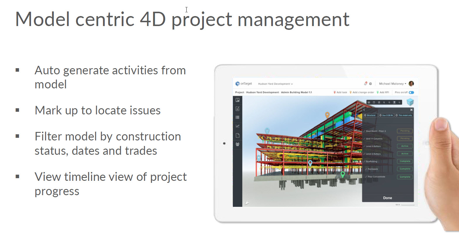 OnTarget uses Autodesk Forge to tackle construction in 4D