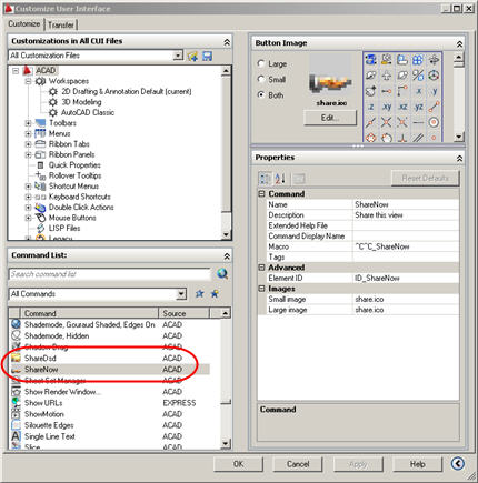 Missing Sharenow Icons For Autocad 2009 Perhaps You